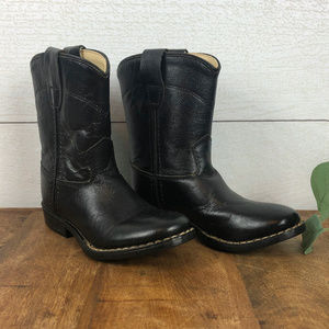 Old West Youth Western Cowboy Boots Size 7.5 Black